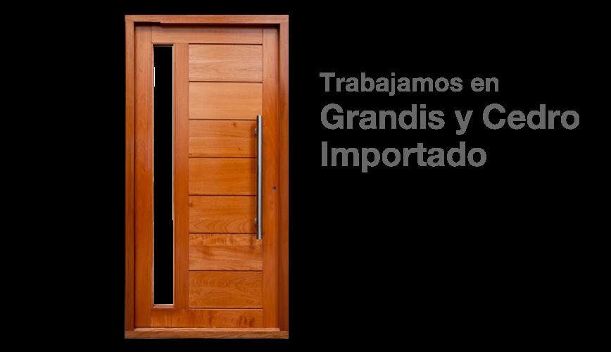 B a r o n e aberturas la plata for Puertas de madera maciza exterior